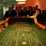 Roulettetisch mit Team